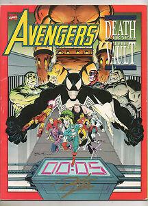 avengers death trap the vault 1 nn 1991 marvel signed ron lim