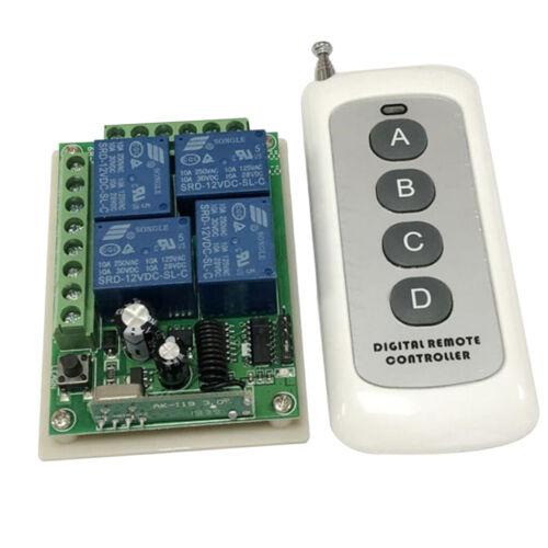 1000 Meter 4 Tasten 433 MHz 12V Kreuz LED Lampe Tor Motor Lampe Schalter