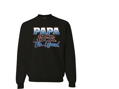 The Man The Myth The Legend PAPA JERZEES Hoodie Sweatshirt THE BEST SM To 4XL