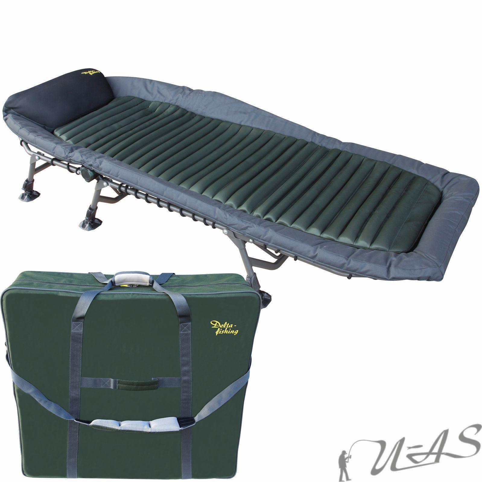DELTA pesca XL LUSSO 6 gamba tuttiuminio autopa Lettino & borsa da trasporto SHA