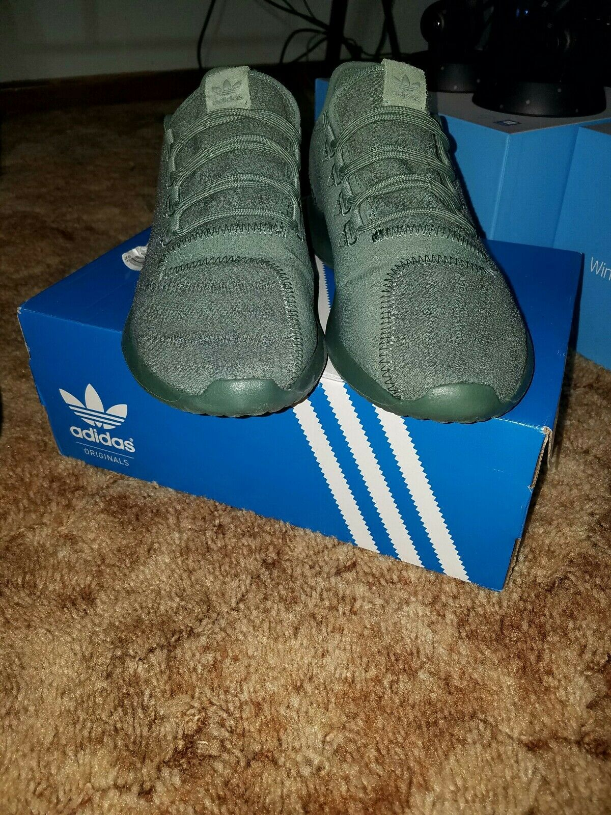 New ADIDAS Originals Tubular Shadow Sneaker Mens green size 9.5 The latest discount shoes for men and women
