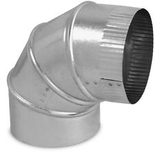 "Air Duct 90 Degree Adjustable Elbow 6"" x 6"" Round Galvanized Steel Metal HVAC"
