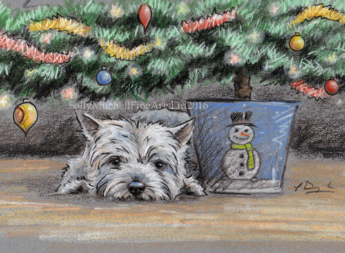 West Highland Terrier Dog Christmas cards pack of 10 by Paul Doyle C497X