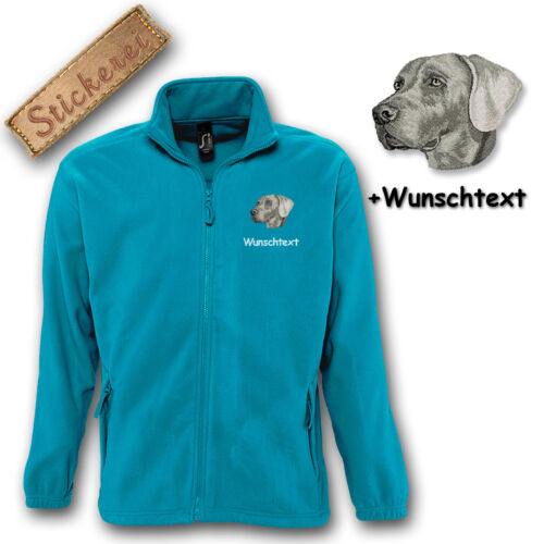 con M1 Wish pile Weimaraner text ricamo Giacca in Ricamato Cane tftwO0