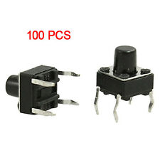 100X 6x6x7mm Momentary Tactile Tact Push Button Switch 4 Pin DIP Through Hole LW