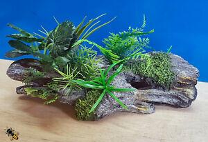 Aquarium-Ornament-Wood-Garden-Log-Plant-Decoration-Cave-Hide-Fish-Tank-Goldfish