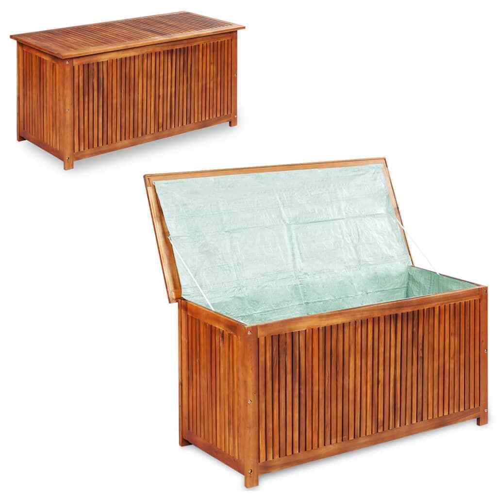 Solid Wood Garden Storage Box 46 1