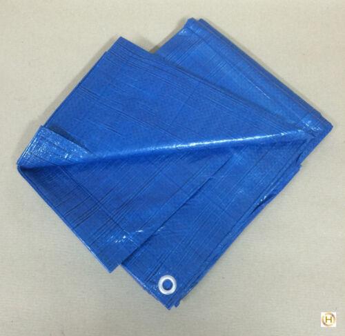 Gewebeplane Abdeckplane Schutzplane Blau mit Ösen ca.80g//m² 3x4 m 12 m²