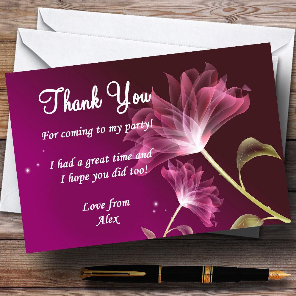 Fleur t pourpre parti personnalisé superbes cartes remercieHommes t Fleur dc3d38