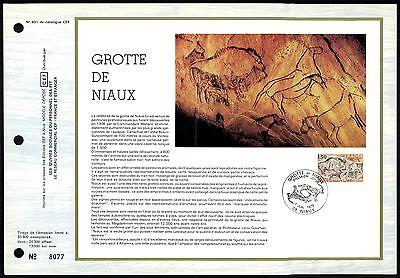 France Cef 1979 Grotte Niaux Felsmalerei Bison Wisent Rock Painting Z1858