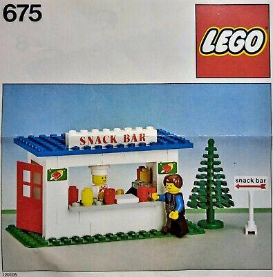 Lego® 675 Town Bauanleitung Imbissbude Snack Bar