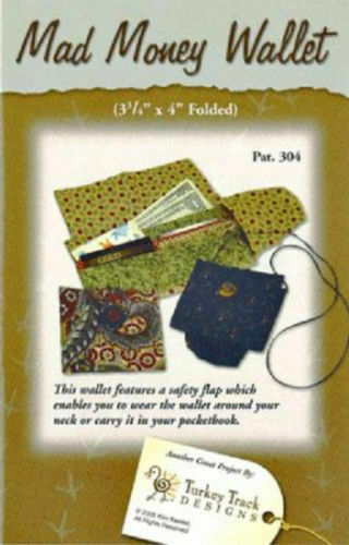 304 Safety Flap Small Purse Mad Money Wallet Sewing Pattern Turkey Track Pat