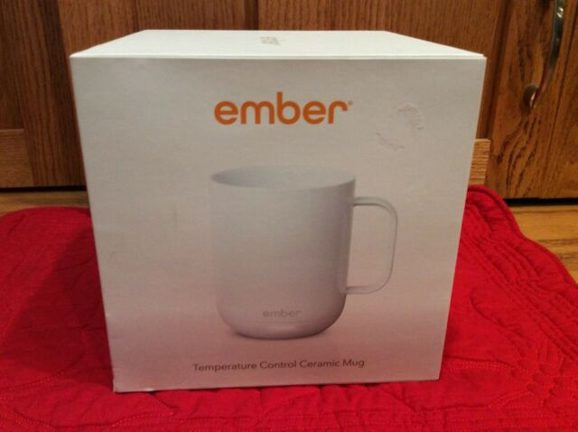 Ember temperature Control Ceramic Mug, White, comes with original packaging
