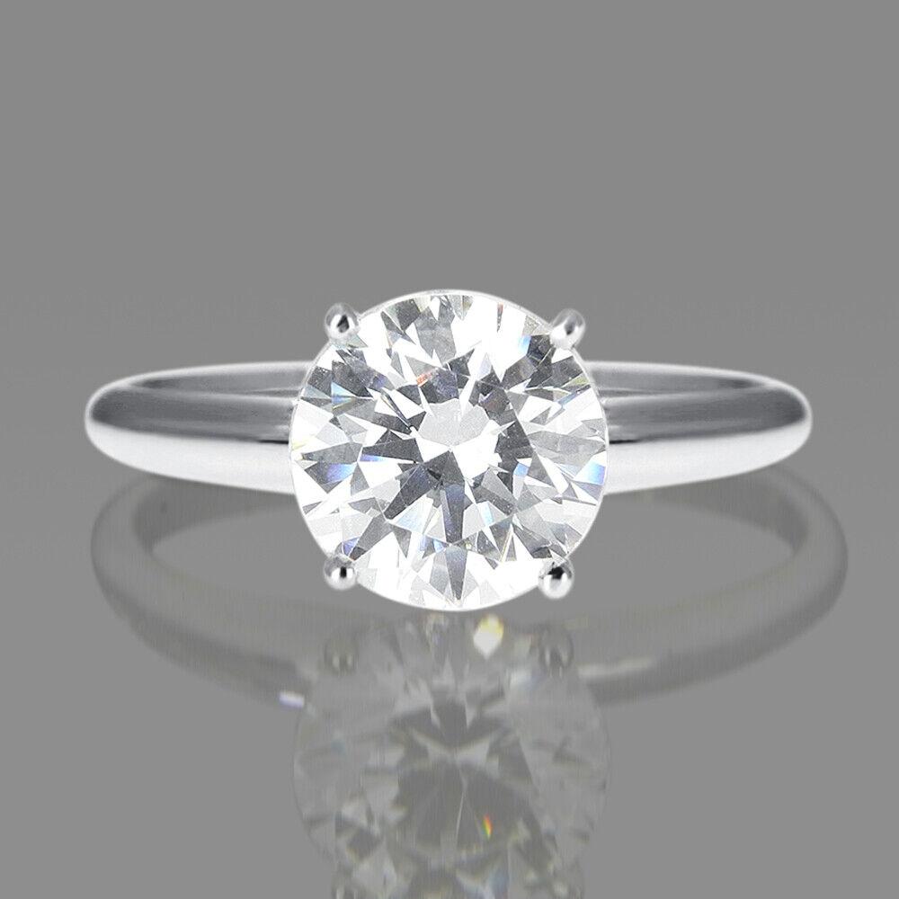 VALENTINE'S 0.30 CT D VS2 DIAMOND ENGAGEMENT RING ROUND 14K WHITE gold ENHANCED