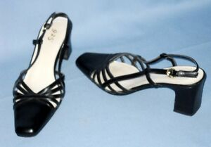 5374-SEXY-9-2-5-WOMENS-BLACK-2-1-2-INCH-STRAPPY-SLINGBACK-SHOES-SIZE-9M