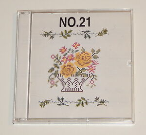 Monogram No  21 Embroidery Card fits Baby lock, Bernina, Brother