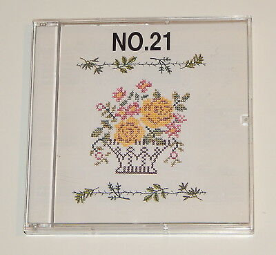 Monogram No  21 Embroidery Card fits Baby lock, Bernina