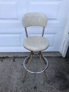 Admirable Details About Vintage Mid Century Modern Cosco Swivel Bar Stool Chair W Chrome Original Cover Unemploymentrelief Wooden Chair Designs For Living Room Unemploymentrelieforg
