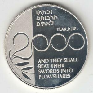 Israel-1999-Holy-Land-Millennium-Coin-Proof-28-8g-Silver-2nis-Off-Quality-1