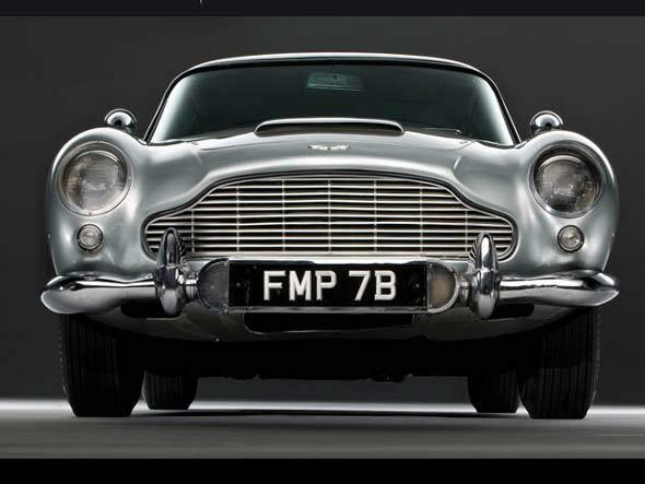 1 exótico Vintage Coche Aston Martin Carrera GT Sport Carrusel De argento 18 Metal 24 Rara