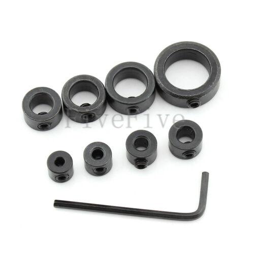 Drill Bit Shaft Depth Stop Collars Ring Set 3-16mm Woodworking Wood Drills