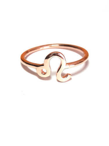 10k solid gold Leo Ring-Zodiac Ring-Hgoldscope Ring-Astrology Sign Unique ring