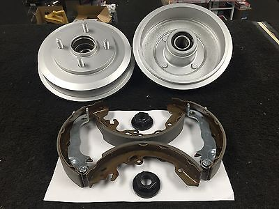 Ford Focus Mk1 Rear Brake Shoes Drums Set And Two Cylinders Replace 1998-2004