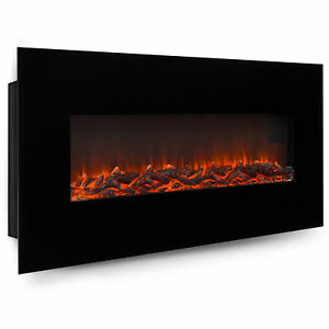 BCP-50in-Electric-Wall-Mounted-Fireplace-Heater-Black