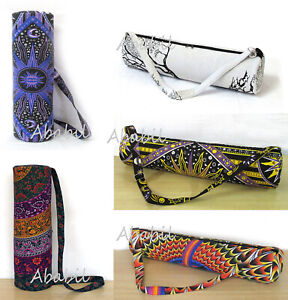 New Indian Black White Elephant Mandala Yoga Mat 100/% Cotton Carrier Bag Hippie Gym Exercise Bags With Shoulder Strap Bags Throw