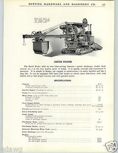1926 paper ad smith paver paving tractor machine blueprint diagram image is loading 1926 paper ad smith paver paving tractor machine malvernweather Gallery