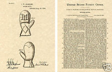 1st BOXING GLOVE PATENT Art Print READY TO FRAME!!!! Grahme ring boxer leather
