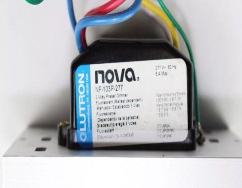 Lutron NF-103P-277-IV Nova 277V 6A Fluorescent 3-Wire Hi-Lume Single Pole 3-W...