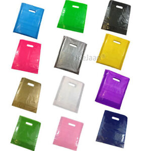Plastic Carrier Bags Colored Gift Shop Strong Patch Handle