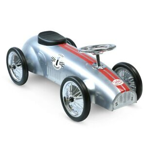 Porteur en métal voiture de course gris argent - Vilac 1109