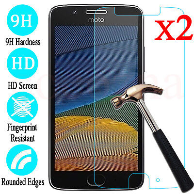 2Pcs 9H Tempered Glass Screen Protector For Motorola Moto G4 G5 G5S G6 Plus Play