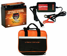 VMAX600 + BC1204 CHARGER + CASE 12V 20Ah AGM BATTERY FOR 18LB TROLLING MOTOR