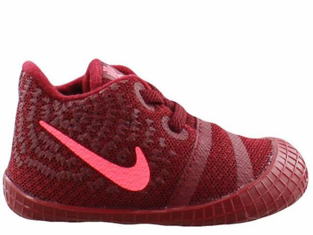 sports shoes b17f2 cf6d9 New Born Toddlers Nike Kyrie Irving 3 Soft Bottoms Team Red/Punch 869983 681