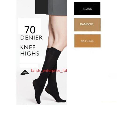 1//3//6 X Paires Femmes femme 70 deniers Hautes Chaussettes Confort Top Chaussure Taille 4-7