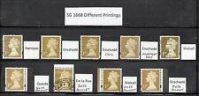 SG 1668 1st Class machins-Diverse Stampe (non di sicurezza)
