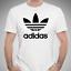 adidas-Men-039-s-Short-Sleeve-Trefoil-Logo-Graphic-Shirt-White-Black-Grey-Heather thumbnail 2