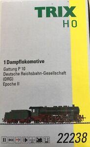 TRIX HO 22238 Digital (DCC & Sound) Steam Locomotive with Tender, Brand New.