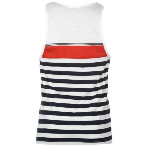 Mens Lee Cooper Lightweight Striped Yarn Dye Vest Top Size  M L XL XXL SLEEVELES