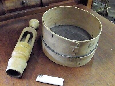 Bescheiden Bäuerliche Geräte Spanholzsieb Und Verkorker Holz RegelmäßIges TeegeträNk Verbessert Ihre Gesundheit