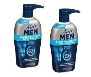 pack of 2 Nair Men Hair Removal Body Cream 13 oz (368 g) Each