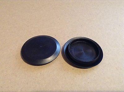 "2/"" 2.0 Inch Flush Mount Black Plastic Body and Sheet Metal Hole Plug  QTY 1"
