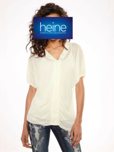 MANDARIN by heine NEU!! Mattweiß KP 39,90 € SALE/%/%/% Crinkle-Bluse