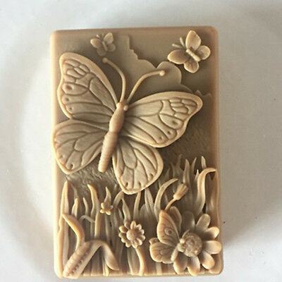 Soap Molds Silicone Craft Butterfly Soap Making Mould DIY Wax Resin Mold