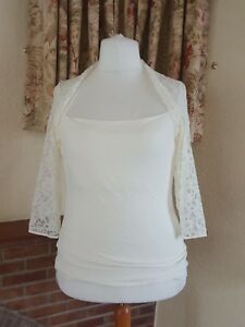 Autograph Christmas 16 18 M Top Size Ladies New Cream Lace Shrug From amp;s w7BqR0v