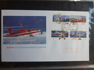 2005-AUSTRALIA-AAT-AVIATION-MAWSON-SET-4-STAMPS-FDC-FIRST-DAY-COVER