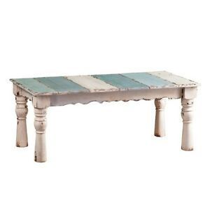 Vintage Rustic Distressed Accent Coffee Table Rectangle